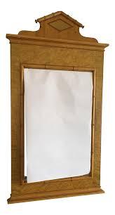 Antique Birdseye Maple Dresser With Mirror by Baker Mid Century Modern Federalist Birdseye Maple Wall Mirror