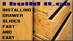 Dresser Drawer Slides Center Bottom Mount by How To Install Drawer Slides Fast And Easy Youtube
