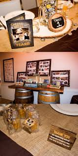 Surprise 60th Birthday Celebration Rustic Beer Themed Party