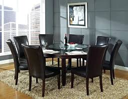 dining set with table leaf black marble round small bench and