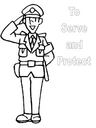 police officer clipart black and white OurClipart