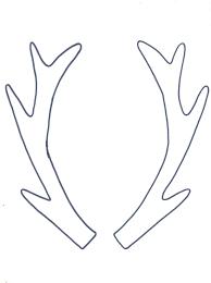 Deer Antler Coloring Pages