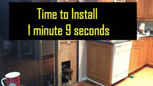 Doggie Door Insert For Patio Door by Doggie Door For A Patio Door Diy Youtube