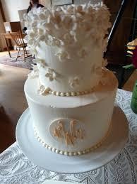 Hydrangea Monogram Cascade Cake