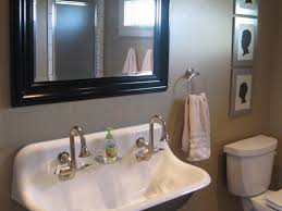 Trough Bathroom Sink With Two Faucets Canada by Bathroom Trough Sink Bathroom 32 Single Sink With Two Faucets