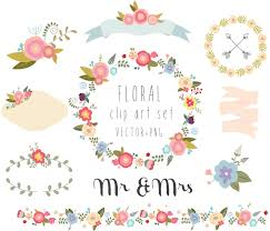 Floral Clipart Wedding Clipartvector PNG Digital Wreath