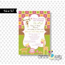 Printable Girl Or Boy Jungle Zoo Animals Baby Shower Etsy