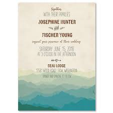Mountain Rustic Wedding Invitations On Vintage 100 Recycled Paper