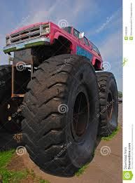 Monster Truck Car Bigfoot With Giant Front Wheel Editorial Stock ...