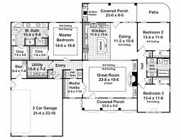 Photo Of Floor Plan For 2000 Sq Ft House Ideas by Country Style House Plan 3 Beds 2 50 Baths 2000 Sq Ft Plan 21 197