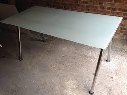 Galant Corner Desk A Leg Type by Ikea Galant Frosted Glass Desk 160 Cm 80 Cm Polished Adjustable