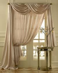 Searsca Sheer Curtains by Geneva Scroll Linen Scarf Swag Window Topper Bestwindowtreatments