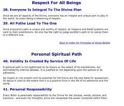 The Principles Of Wiccan Belief 12 15
