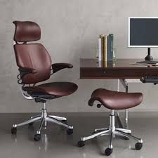 humanscale freedom leather task chair backcare basics