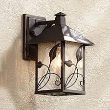 franklin iron works wall light outdoor lighting ls plus