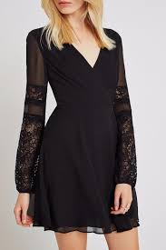 bcbgeneration long sleeve lace dress from georgia by high