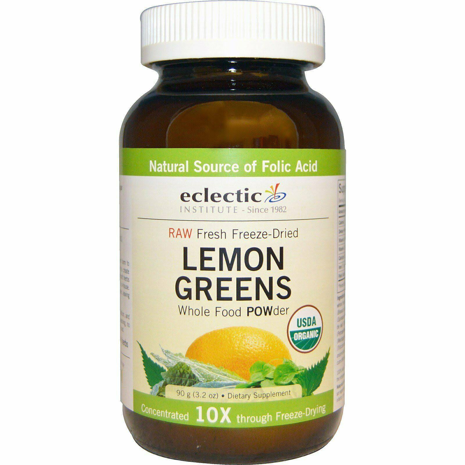 Eclectic Institute Lemon Greens Whole Food Powder - 3.2oz