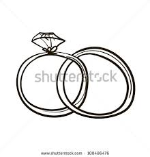 Two wedding rings A children s sketch