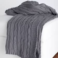 Cable Knit Throw Pottery Barn by District17 Gray Cable Knit Throw Blanket Throw Blankets