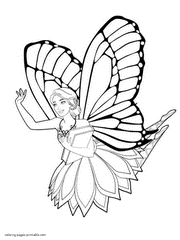 Free Mariposa Barbie Coloring Pages To Print
