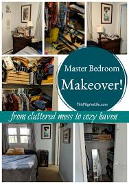 master bedroom makeover from cluttered mess to cozy
