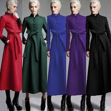 womens winter wool jackets and coats ladies red long coat fashion
