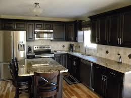 Kitchen Backsplash Ideas With Dark Oak Cabinets by Kitchen Backsplashes Dark Kitchens With Wood And Black Kitchen