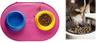 Silica Gel Antiskid Pet Food Mats Splash Proof Dogs Eat Mat Cat