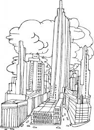 9 Pics Of Printable City Coloring Pages New York Inside