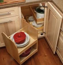 Blind Corner Base Cabinet Organizer by Corner Kitchen Cabinet Solutions