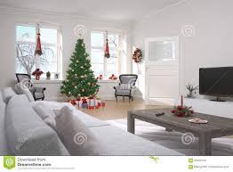 wohnung wohnzimmer weihnachten stockfoto bild baum