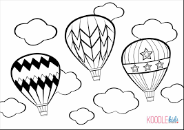 Hello Kitty Heart Balloons Coloring Page Printable Click The Pages