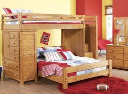 Creekside Taffy Twin Full Step Bunk Bed w Chest Bunk Loft Beds