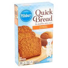 Krusteaz Pumpkin Pie Bar Calories by Pillsbury Pumpkin Quick Bread U0026 Muffin Mix 14 Oz Walmart Com