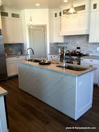Painting Wood Kitchen Cabinets Ideas Remodelaholic Grey And White Kitchen Cabinet Ideas