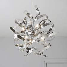 heka curled chrome effect 6 l pendant ceiling light 13 cool b q