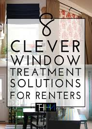 No Drill Curtain Rods Ikea by 8 Clever Window Treatment Solutions For Renters The Homes I