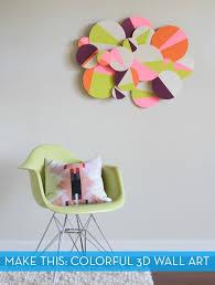 How To Make DIY Colorful 3D Geometric Wall Art