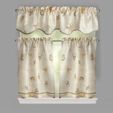 Window Art Tier Curtains And Valances by Seashell Script Window Tier U0026 Valance Set Christmas Tree Shops