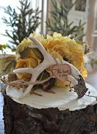 Buck Rack Gold Birthday Cake Topper Wedding Antlers Deer Horns Rustic Hunting Hunter Bride Groom Decor Camouflage