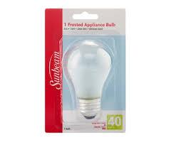 sunbeam a15 appliance fan 40w frosted blistercard l image home