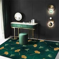 luxus grün teppich ginkgo blatt gedruckt große bereich