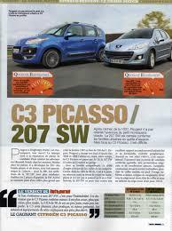 comparaison 207 sw et c3 picasso peugeot forum marques