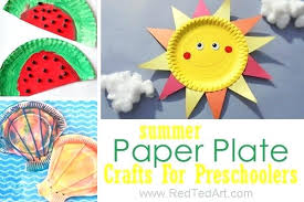 Arts And Craft With Paper Plate Summer Crafts For Preschool Delightful Easy