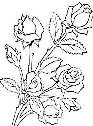 Flower Bouquet Is Made Roses Coloring Page