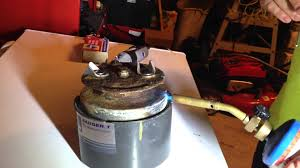 repair a hole in a garbage disposal using alumaloy youtube