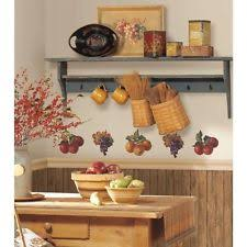 FRUIT HARVEST Wall Stickers 26 Colorful Decals APPLES GRAPES Kitchen Decor New