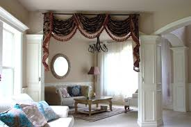 scintillating living room curtains swags ideas cool inspiration