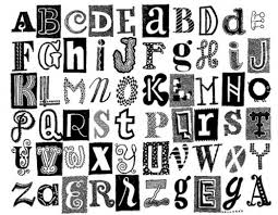 Different Styles Bubble Letters