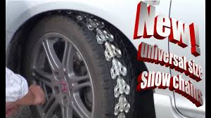 Universal Size Snow Chains For All Vehicles - YouTube